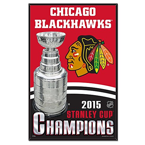 Chicago Blackhawks Stanley Cup Champions Wood Sign Champions Wood Sign
