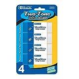 Two-Tone Vinyl Eraser (Set of 4) Quantity: Case of 72