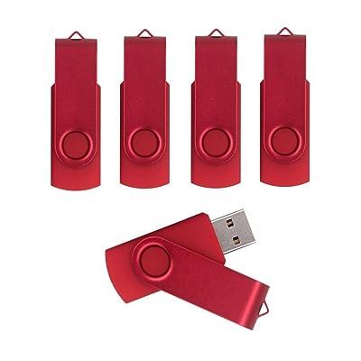 Lámina enmarcada, diseño giratorio de 5unidades Flash USB unidades flash unidad flash memory stick rosso 16GB/2.0