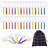 WXJ13 35 Pieces Plastic Magnifying Glass 5 Colors Magnifying Glass Kids Set with a Bag