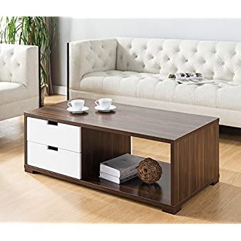 Amazon com: Sobro SOCTB300WHBK Coffee Table with Refrigerator Drawer