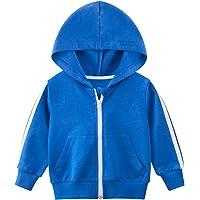 OdilMacy Unisex Toddler Baby Hooded Sweatshirts Casual Basic Zip up Hoodie Sweatshirt Coat for Boys Girls