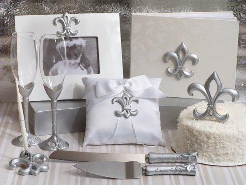 Deluxe 7 PC Silver Fleur De Lis Set