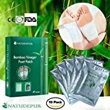 Detox Foot Patches, Foot Detox Pads 100% Natural Organic, Remove Body Toxins, Detox Cleanse Weight Loss, Sleep Aid, Stress Relief, Metabolism Booster, Pain Relief, Foot Care, Aid Blood Circulation