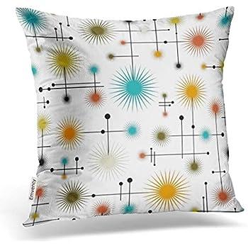 Emvency Throw Pillow Cover Retro Starbursts A Go Decorative Pillow Case Home Decor Square 20 x 20 Inch Cushion Pillowcase