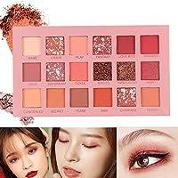 Heyean 18 Colors Shining Matte Eyeshadow Pearlescent Waterproof Smoky Eye Shadow Palette