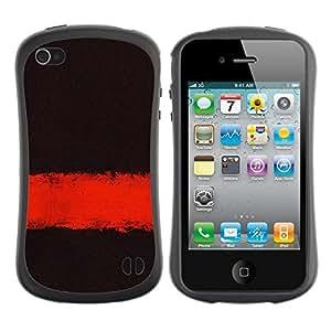 "Pulsar iFace Series Tpu silicona Carcasa Funda Case para Apple iPhone 4 / iPhone 4S , Profundo Significado Oscuro Negro Limpiar minimalista"""