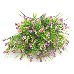 Bird Fiy Babys Breath Artificial Flowers,4 Bundles Gypsophila Flower Wedding Home Decor Gift (Red) 2