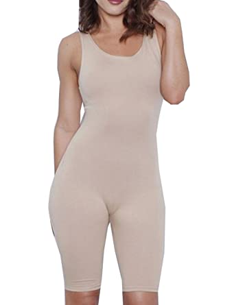 bdf093e98 Amazon.com  Women Sexy Sleeveless Solid Bodycon Sport Short Jumpsuit Rompers  (US 8-10