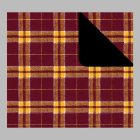 Price comparison product image Boxercraft Flannel Blanket/Throw (Maroon/Gold)