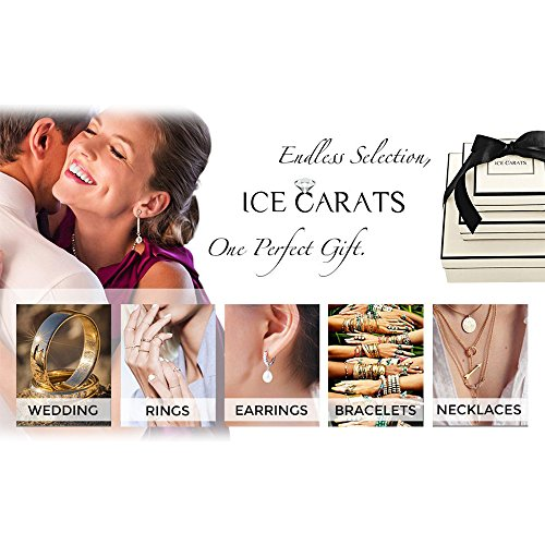 ICE CARATS 925 Sterling Silver 14k Diamond Post Stud Ball Button Earrings Fine Jewelry Gift Set For Women Heart by ICE CARATS (Image #7)