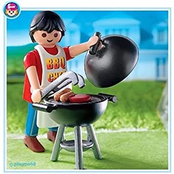 Playmobil - 4649 - La Maison Moderne - Barbecue, Playsets - Amazon ...