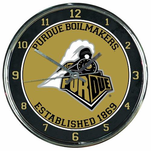 NCAA Purdue Boilermakers Chrome Clock ()