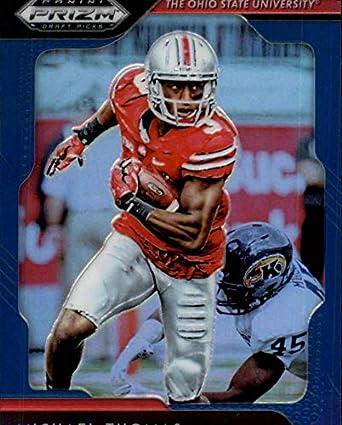 a60e5038ea3 2019 Prizm Draft Picks Football Blue Prizm  66 Michael Thomas Ohio State  Buckeyes Official Panini