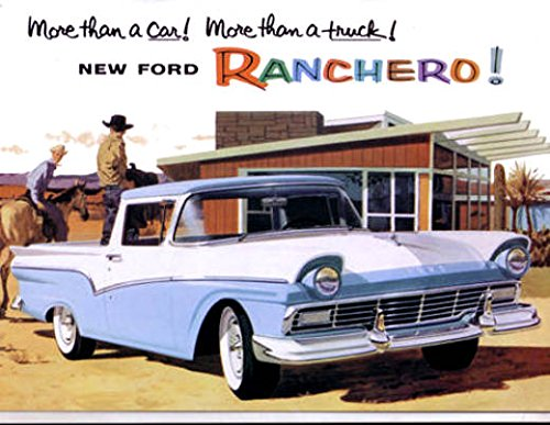 (A MUST FOR OWNERS & RESTORERS - THE 1957 FORD RANCHERO DEALERHIP SALES BROCHURE - Includes Standard Ranchero and Custom Ranchero - ADVERTISMENT - LITERATURE 57)