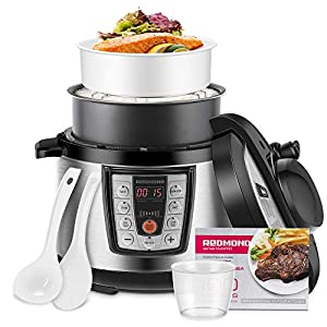 REDMOND Electric Pressure Cooker,5 Quart Multicooker 6-in-1 Multi-Use Programmable for Slow Cooker, Rice Cooker, Sauté… 15