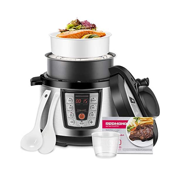 REDMOND Electric Pressure Cooker,5 Quart Multicooker 6-in-1 Multi-Use Programmable for Slow Cooker, Rice Cooker, Sauté… 1