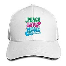 Travel Peace Love Music Sandwich Caps For Man