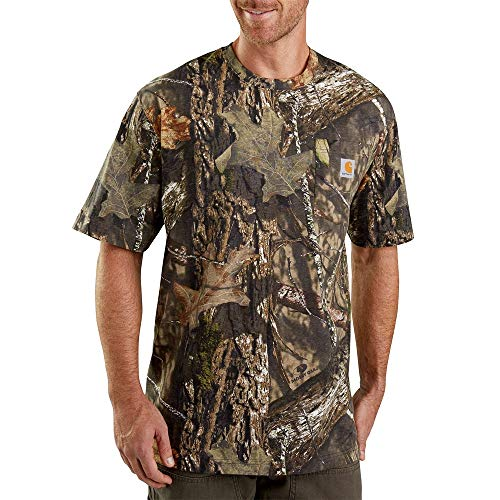 Carhartt Men's Camo Short Sleeve T Shirt, 340-Mossy Oak Breakup Country, X-Large (Camo Short Sleeve Shirt)