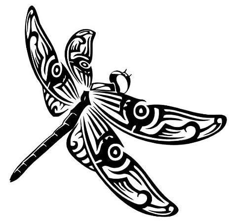Tatuaje tribal de una libelula , pegatinas vinilo adhesivo ...