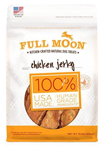 Full Moon All Natural Human Grade Chicken Jerky Dog Treats, 12 oz