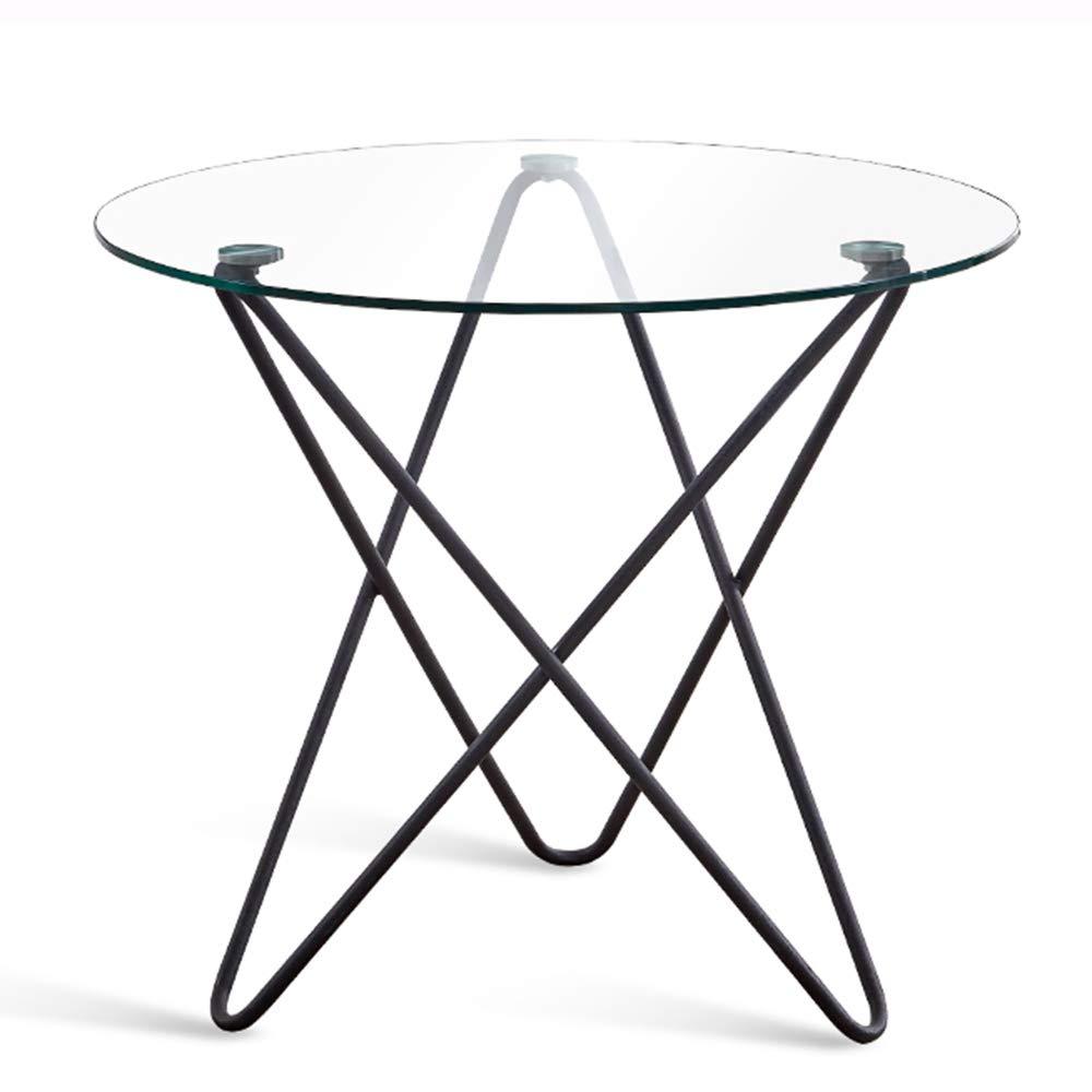 ナイトテーブル サイドテーブル、簡単な強化ガラスラウンドサイドテーブル安定した実用的なリビングルームソファサイドコーヒーテーブル防爆ベッドルームベッドサイドのコーヒーテーブル (サイズ さいず : 70*80cm) B07QV1HF4F  70*80cm
