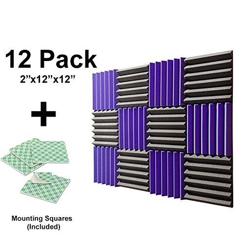 12-pk-purple-charcoal-2x12x12-sound-absorbing-panels-acoustic-tiles-studio-foam-sound-wedges-with-24