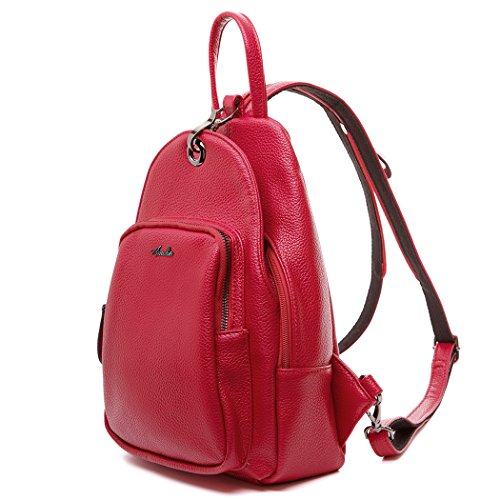 Women Backpack Purse, Small Shoulder Bag Lightweight School Travel PU Leather Purse with Convertible Shoulder Strap ()