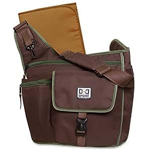 Diaper Dude Sport Bag by Chris Pegula - Brown Sling Messenger Diaper Bag