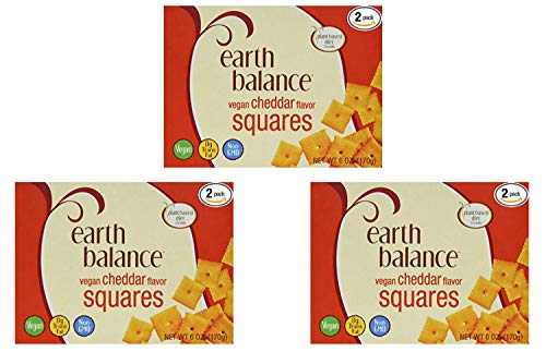 Earth Balance Vegan Cheddar Flavor Squares - 6 oz - 2 Count (3 Pack) by Earth Balance (Image #1)