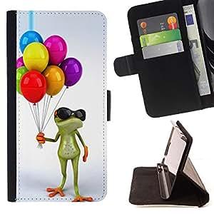 - birthday kids frog white/ Personalizada del estilo del dise???¡¯???¡Ào de la PU Caso de encargo del cuero del tir???¡¯????n del s - Cao - For Samsung Ga