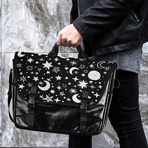 メッセンジャーバッグ メンズ 月 星 惑星 ブラック 斜めがけ 肩掛け カバン 大きめ キャンバス アウトドア 大容量 軽い おしゃれ