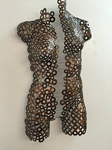 Metal wall art torso abstract sculpture Rust/copper garden modern home decor by Holly Lentz by Only Art Studio, Inc.