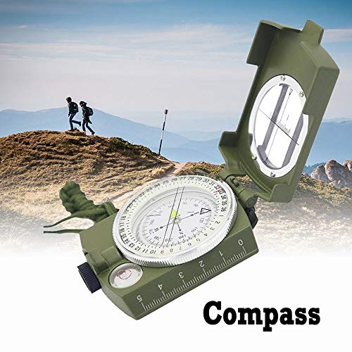 (WICHEMI Multifunctional Military Compass Professional Geological Compass with Map Measurer Distance Calculator for Outdoor Hiking Camping)