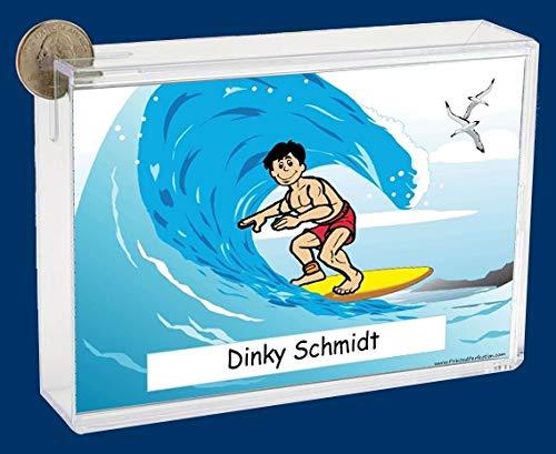 Personalized NTT Cartoon Side Slide Frame Gift: Surfing Male Gift, Surfing