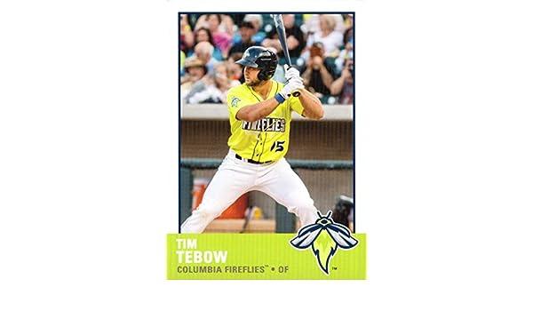 buy online 4c985 76037 Amazon.com: 2017 Grandstand Columbia Fireflies #15 Tim Tebow ...