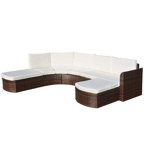 vidaXL Conjunto de Muebles de Jardín Sofás de 16 Piezas de ...