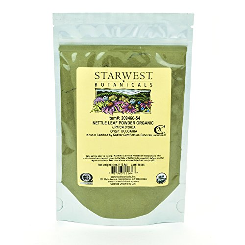 Starwest Botanicals Organic Nettle Leaf Powder, 4 Ounces