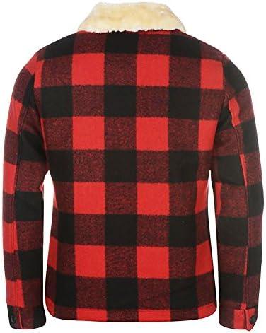 Pierre Cardin Mens Warm Tartan Wool Blend Flannel Check Slim Fit Jacket