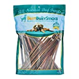 12 Inch Thin Odor Free Bully Sticks - 50 Pack