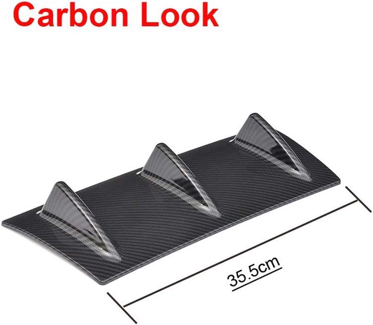 pour BMW E46 Piaobaige Diffuseur de Pare-Chocs pour Pare-Chocs arri/ère de Voiture Universelle 5 3 Ford Focus 2 aileron de Requin E60 E90 pour Audi A3 Look Carbone Noir Brillant