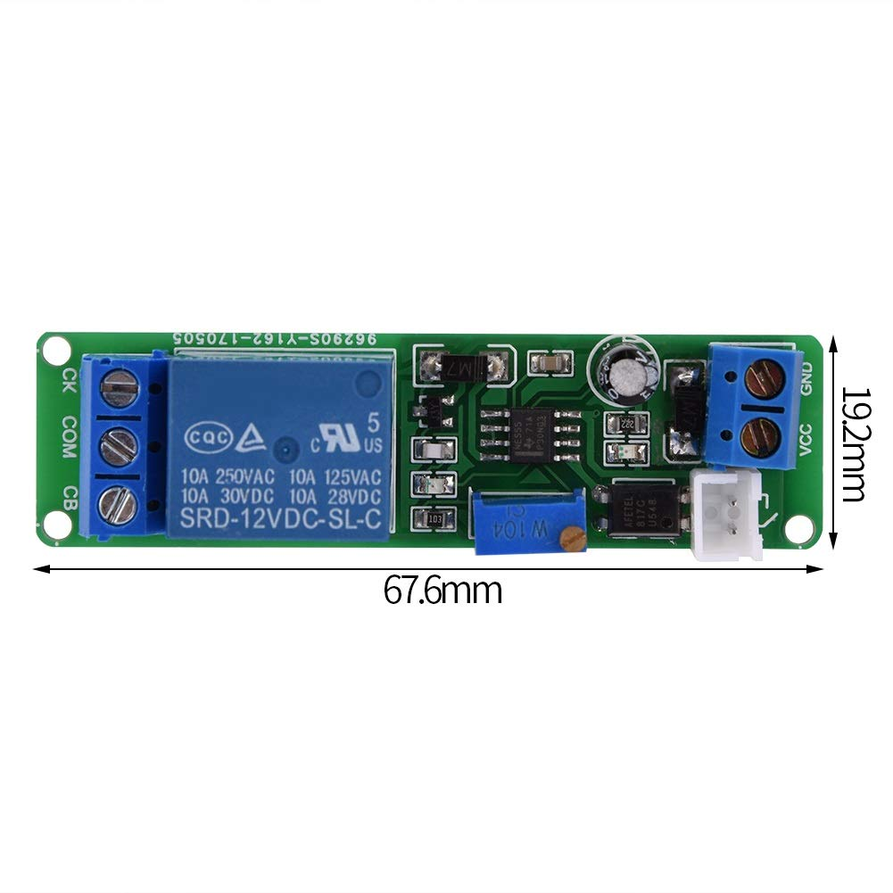 DC 12V 1~10sec Timer Switch Module Delaman Adjustable Timer Delay Turn OFF Module Timing Relay Time Switch