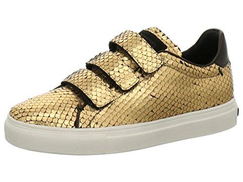 Kennel und Schmenger Sneaker mit Klett Größe 37.5 Gold/Schwarz