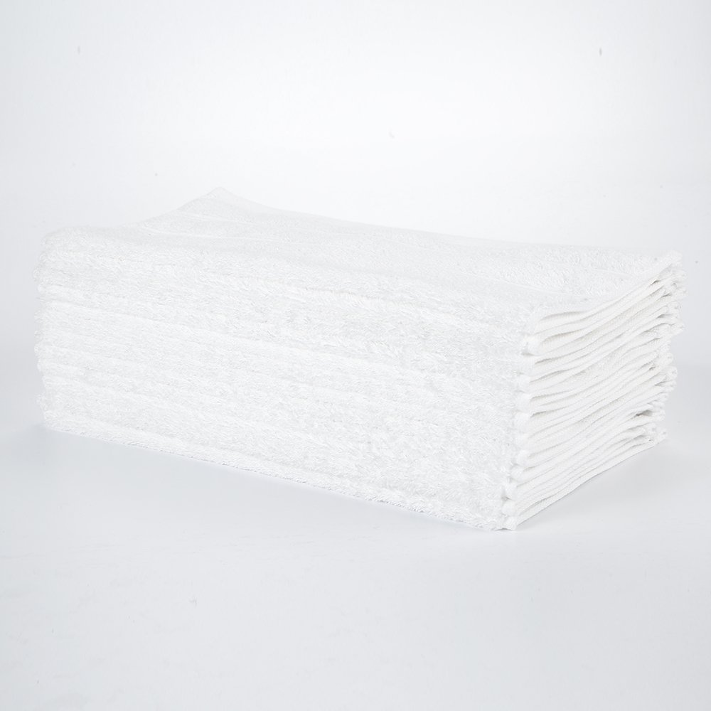 """HaoDuoYi 100% Cotton 16 Piece Washcloths 600GSM, Luxury, Soft,Spa and Hotel 13""""X13"""" White"""