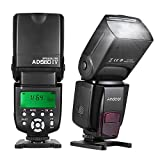 Andoer AD560 IV 2.4G Wireless Slave Flash Speedlite with LCD Display for Canon Nikon Olympus Pentax Sony A7/ A7 II/ A7S/ A7R/ A7S II DSLR Cameras