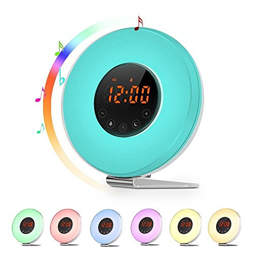 Fun color changing alarm clock with lots of features.