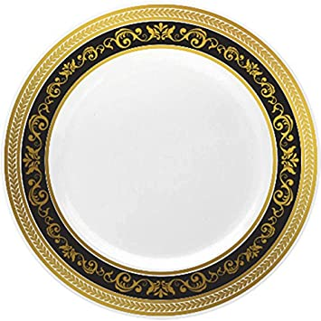 Royalty Settings Royal Collection Heavy Duty Plastic Plates for Weddings for 20 Persons Includes 20  sc 1 st  Amazon.com & Amazon.com: Royalty Settings Royal Collection Heavy Duty Plastic ...