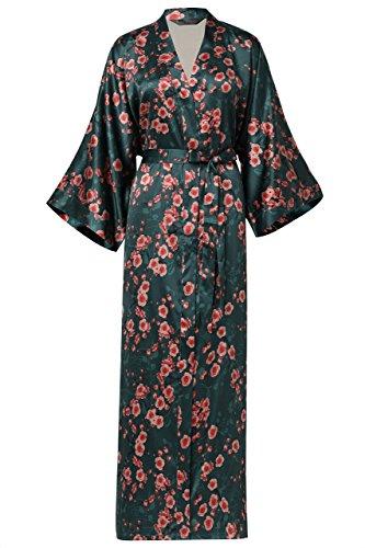 Scuro 53 Pigiameria Sposa Robe Per Vestaglia In Festa Pollici Maschera Cinese 135 Kimono Donna Pigiama Lungo Party Stile Da Cm Raso Verde Artideco Giapponese fn7gYqRZw
