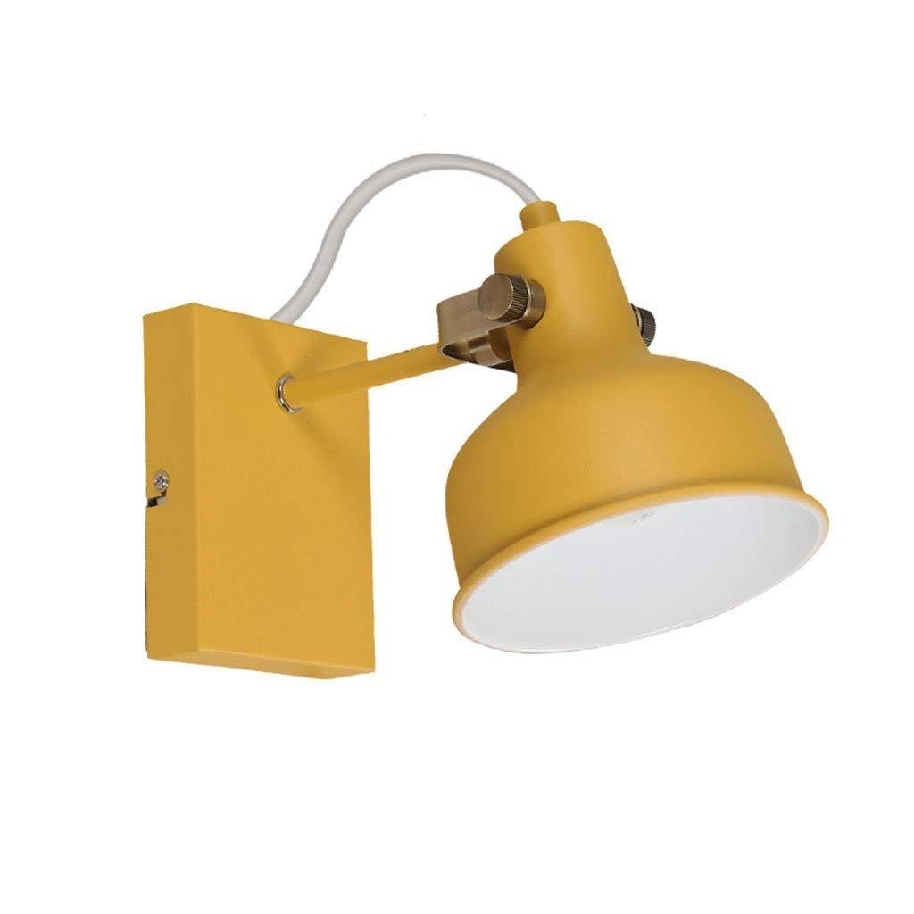 AEXU Anmutig Nordic kreative Schlafzimmer Nachttischlampe Studie Wohnzimmer einfache moderne Dekoration Leselicht (Farbe  Rosa) (Farbe   Gelb)