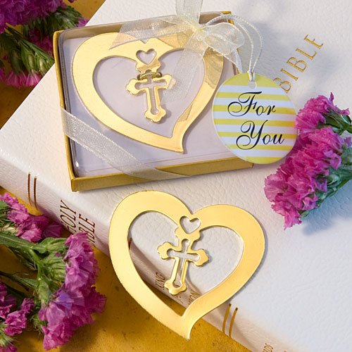 Heart and Cross Bookmark Favors, 1 ()